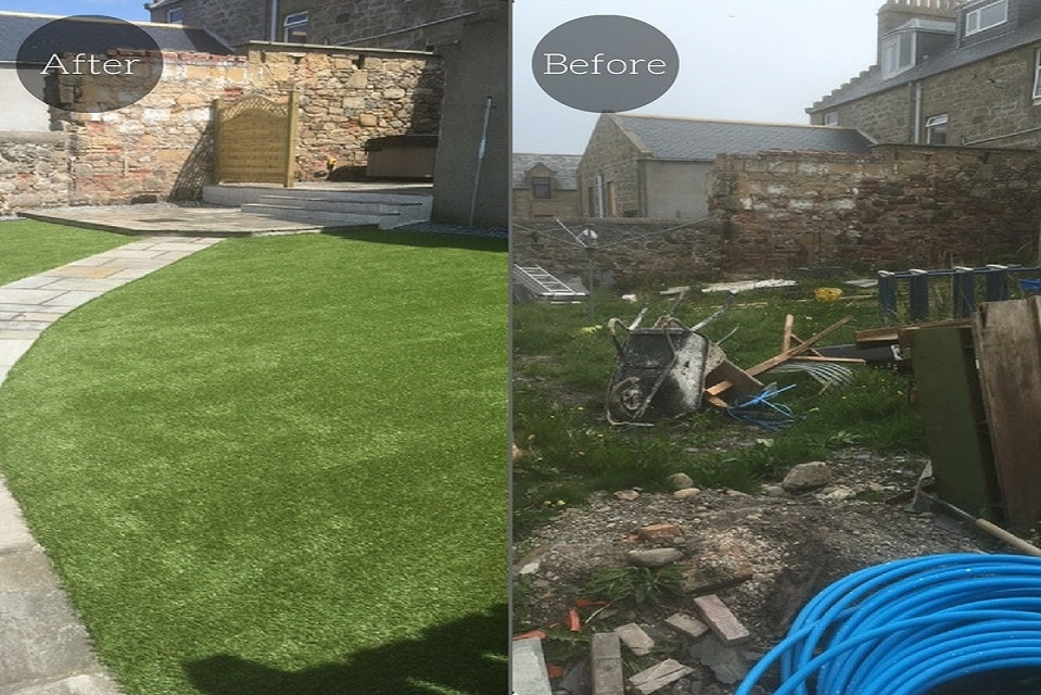 Artificial Grass Garden Before & After